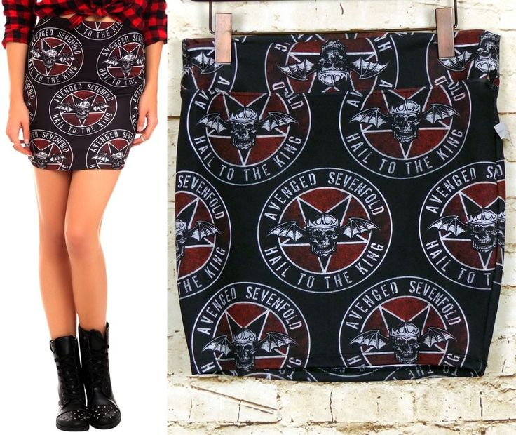 Avenged Sevenfold Womens M Hail to the King Black Mini Skirt Rogue Apparel  #HotTopic #Mini