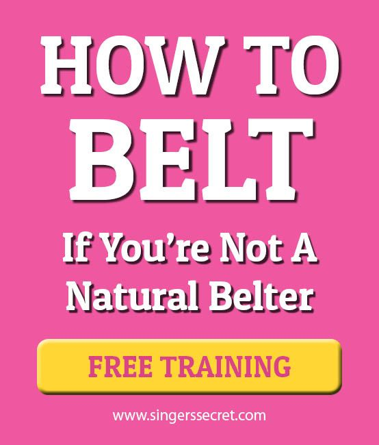 Singing tutorial on how to belt, if you're not a natural belter. http://singerssecret.com/category/belting/ #singing #singingtips #howtosing #singingtutorial