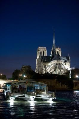 The river Seine and Notre Dame - Paris