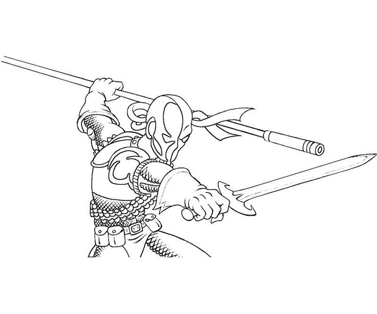 coloring pages of deathstroke costume   Deathstroke printable for kiddies to colour. Win ...