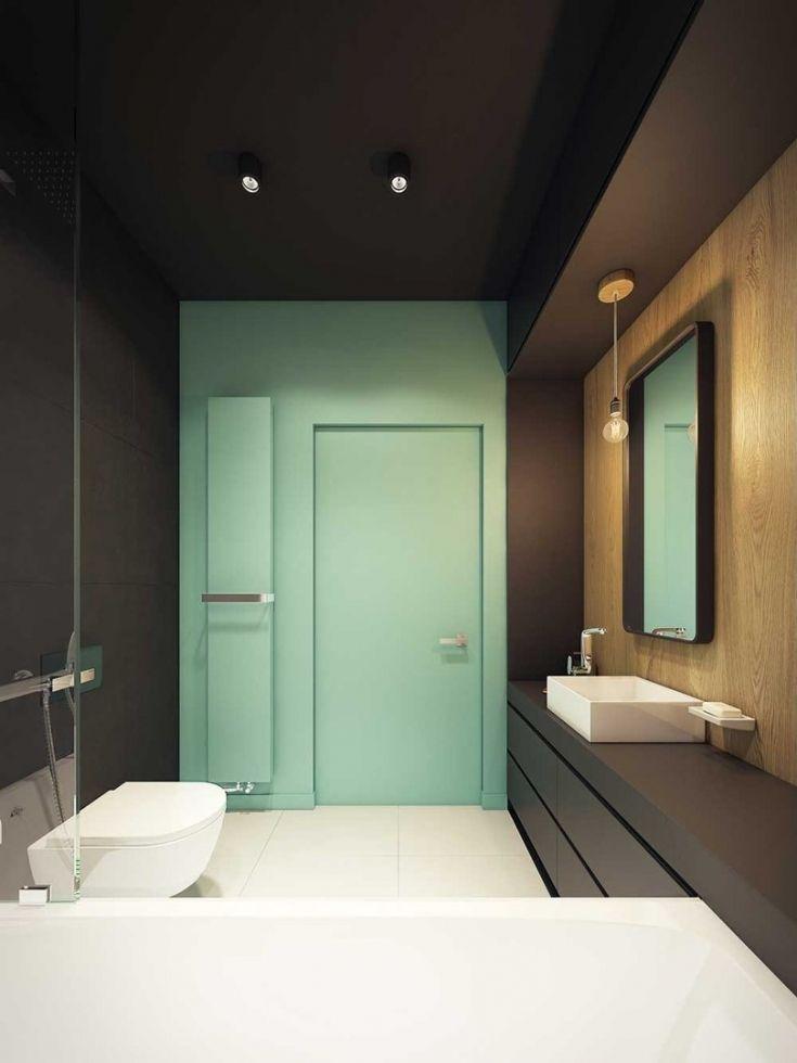 Современный дизайн ванной комнаты 6 кв.м. Лаконичный минимализм - Дизайн интерьеров   Идеи вашего дома   Lodgers