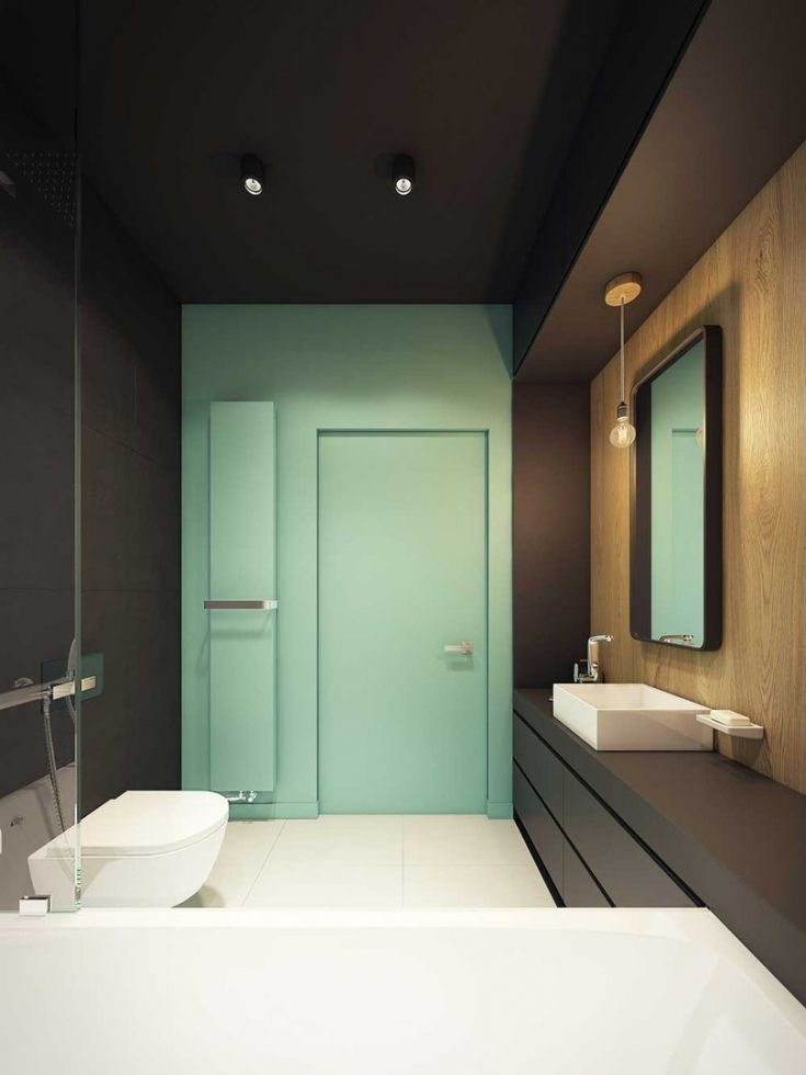 Современный дизайн ванной комнаты 6 кв.м. Лаконичный минимализм - Дизайн интерьеров | Идеи вашего дома | Lodgers