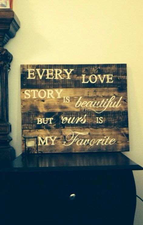 Reclaimed wood 24 x 20 Rustic wedding decor, Wedding sign rustic wall decor newlywed Every love story, rustic wedding sign valentines day on Etsy, $80.00