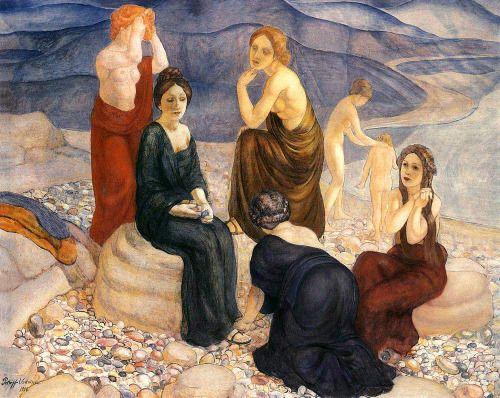 "Coast - Kuzma Petrov-Vodkin 1908 "" Kuzma Sergeevich Petrov-Vodkin, Russian: Кузьма Сергеевич Петров-Водкин (November 5, 1878 – February 15, 1939) was an important Russian and Soviet painter and writer."