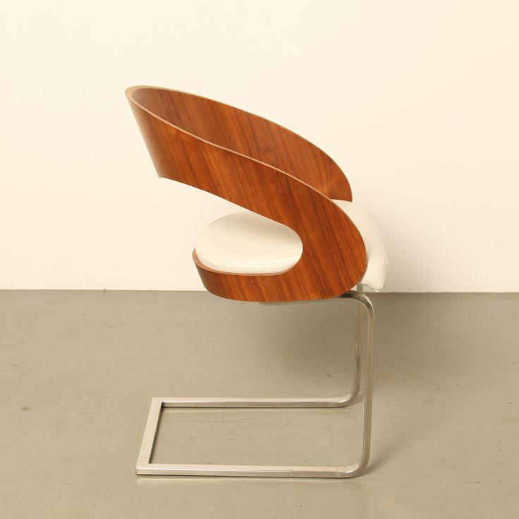 Bent Teak Plywood dining room chairs - Neef Louis Design