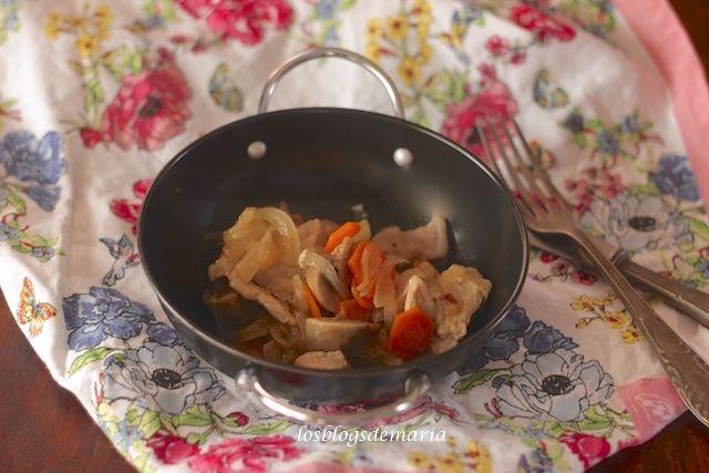 Lomo con champiñones | Comer con poco