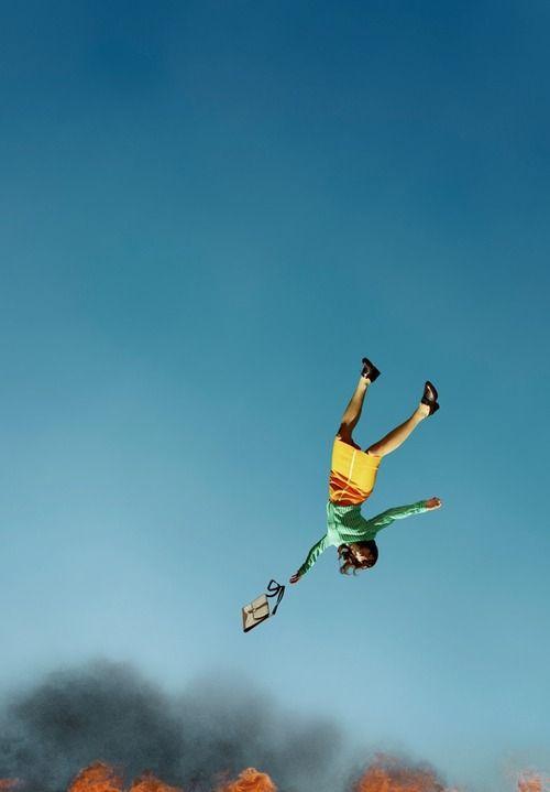 Alex Prager | falling | fall | blue | fire | www.republicofyou.com.au