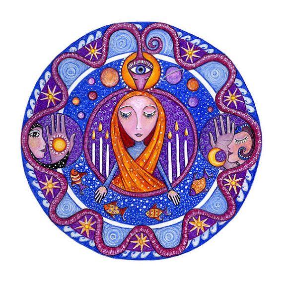 Conjunto de 4 Mandala arte grabados de su por LindyLonghurst