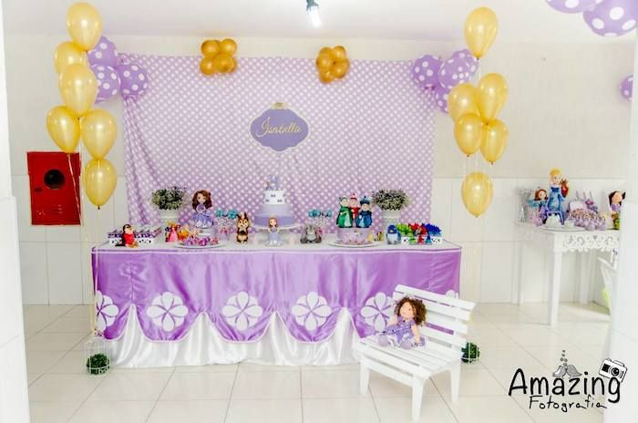Sofia The First Birthday Table Decorations Photograph