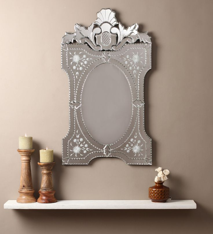 Beni Silver MDF Mirror #mirrors #mirror #reflectors #show #pinit #pinterest #shazliving Shop at: https://www.shazliving.com/