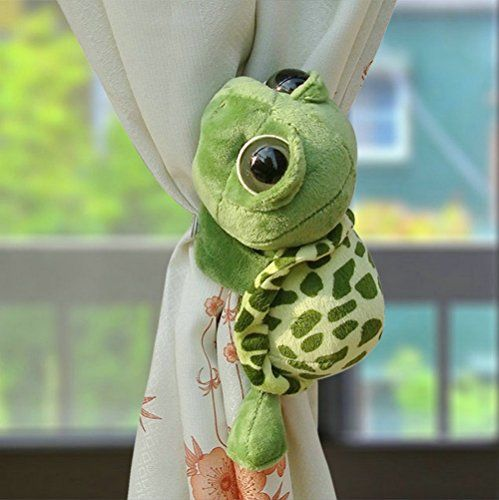 Ayygift 1 pair Cartoon Cute Big Eye Turtle Curtain Tiebacks Plush Toy Nursery Children Room Curtain Tie Fastener Holdbacks AYYgift http://www.amazon.co.uk/dp/B00LEF3SLS/ref=cm_sw_r_pi_dp_mtkUub1283CZ3