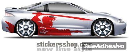 Adesivi per Auto e Moto: New Line 17 1