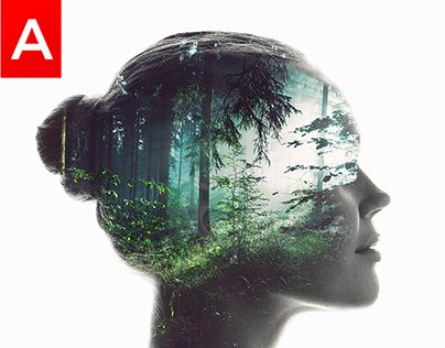 """Check out new work on my @Behance portfolio: """"Animated Double Exposure Action"""" http://be.net/gallery/53782837/Animated-Double-Exposure-Action"""