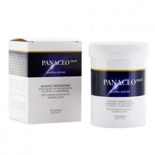 Panacéo Med est composé de 95% de zéolithe (un minéral naturel micro poreux d'origine volcanique faisant partie de la famille des aluminosilicates hydratés) qui agit par activation tribomécanique (système spécialement breveté).
