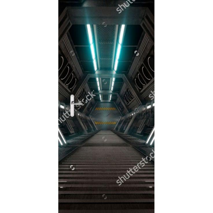 Deursticker Sci-fi hal | Een deursticker is precies wat zo'n saaie deur nodig heeft! YouPri biedt deurstickers zowel mat als glanzend aan en ze zijn allemaal weerbestendig! Verkrijgbaar in verschillende afmetingen.   #deurstickers #deursticker #sticker #stickers #interieur #interieurprint #interieurdesign #foto #afbeelding #design #diy #weerbestendig #scifi #science #fiction #sciencefiction #film #jongenskamer #jongen #ruimte #ruimteschip #buitenaards