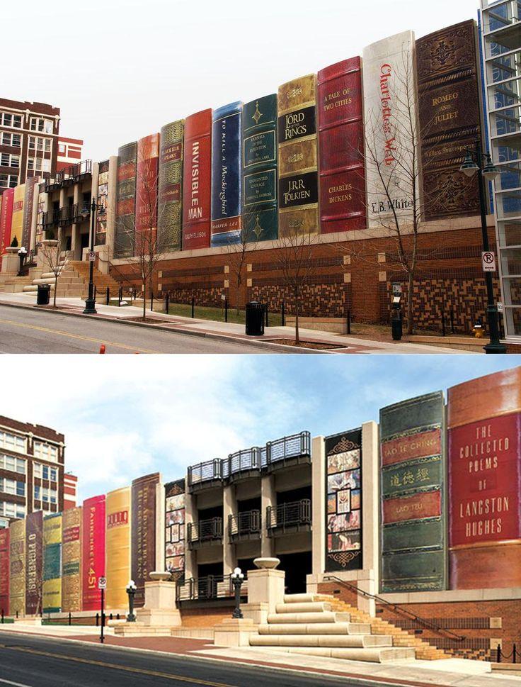Kansas City Public Library, Missouri. = Há um tempo em que é preciso abandonar as roupas usadas, que já tem a forma do nosso corpo, e esquecer os nossos caminhos, que nos levam sempre aos mesmos lugares. É o tempo da travessia: e, se não ousarmos fazê-la, teremos ficado, para sempre, à margem de nós mesmos.Fernando Pessoa Livros nos fazem mais livres!