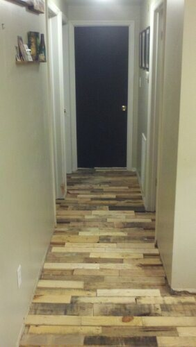 347 best pallet flooring images on pinterest pallet wood pallet pallet floor for a basement solutioingenieria Image collections
