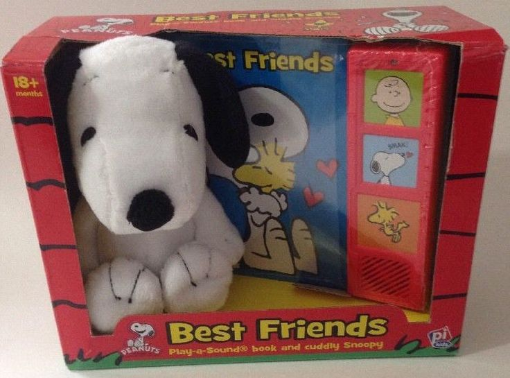 NEW 2014 Peanuts Best Friends Play a Sound Book and Cuddly Snoopy Plush Toy