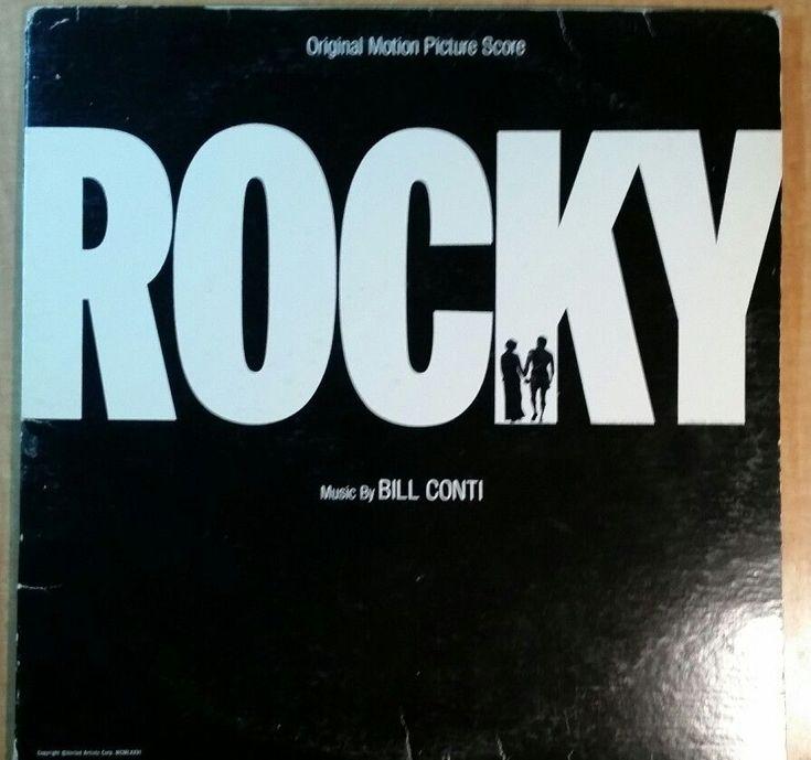 ROCKY FILM SOUNDTRACK LP , BILL CONTI, SYSLVESTER STALLONE W/ ORIG INNER SLEEVE #FilmScoreSoundtrack