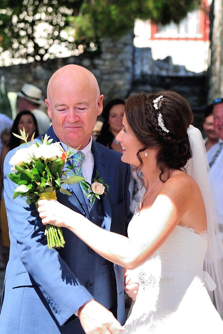 Love you dad ❤️ father of the Bride, Skiathos, Greece wedding