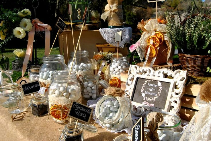 Bucolic Candy Buffet Matrimonio Rustic chic in Porto Cervo | Blog Sara Events