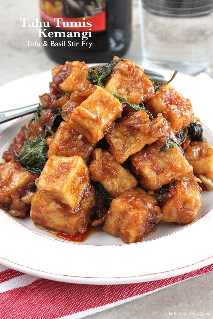 Tahu Tumis Kemangi – Tofu & Basil Stir Fry