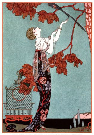 """George Barbier led Ecole des Beaux Arts """"The Knights of the Bracelet""""—a tribute to their fashionable and flamboyant mannerisms and style of dress. He is considered the artist who birthed the Art Deco movement."""