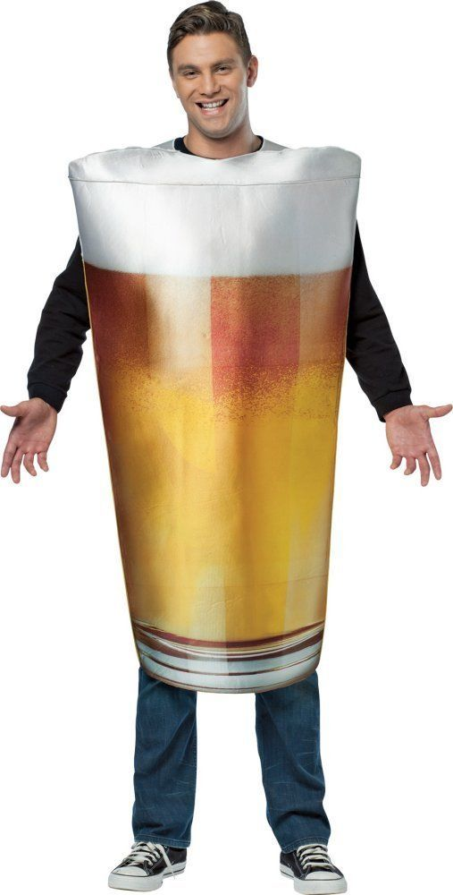 Costumes! I am  A Pint Glass of My Favorite Beer Costume Set Adult Standard #GC #Costume
