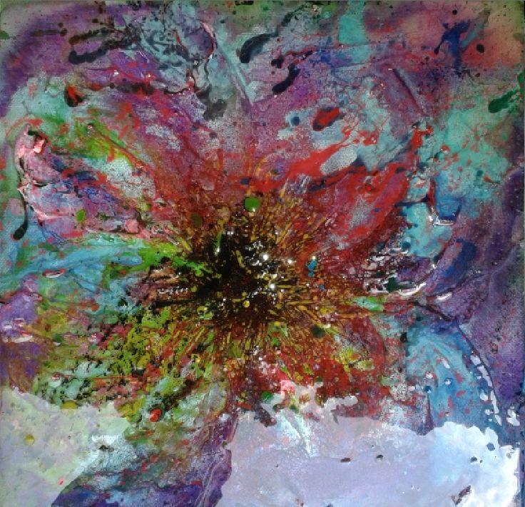 Explosive resin art by Jill Wright, mixed media artist