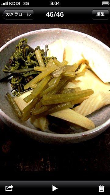 竹の子、ふき、ちょっと甘くなっちゃった? - 4件のもぐもぐ - 山菜の盛り合わせ by ENOLA
