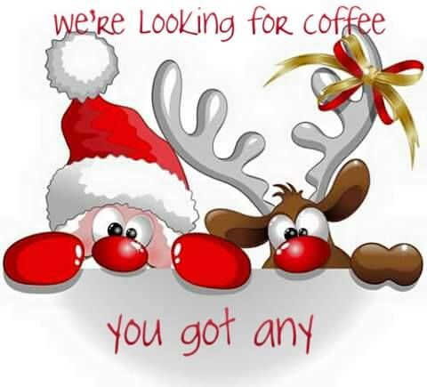 This was me on this Christmas morning! If Santa & Rudolph had stopped by my place, they would have been in coffee heaven! I got a new espresso/latte/cappuccino machine! Woohoo... It really is Christmas! :D Think I need another cup... Cya!