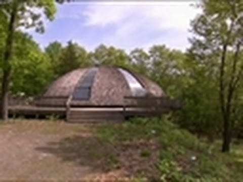 This retreat features a spaceship-like exterior that rotates to catch more sun.    Check out more of the World's Greenest Homes | http://planetgreen.discovery.com/videos/worlds-green-homes/#mkcpgn=ytpg1