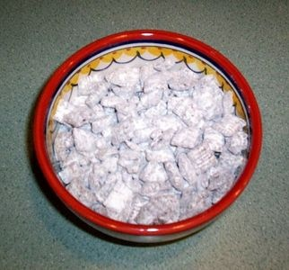 Puppy Chow Chex Mix (PB, Choc, Sugar, & Chex)  Yes Please!