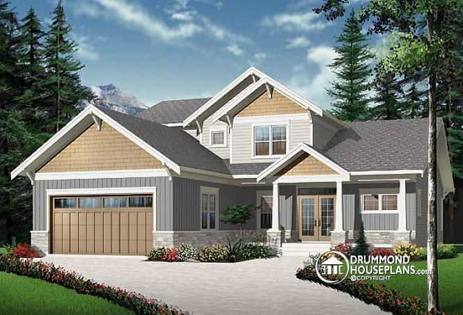 25 best ideas about 4 bedroom house on pinterest house for Craftsman style office