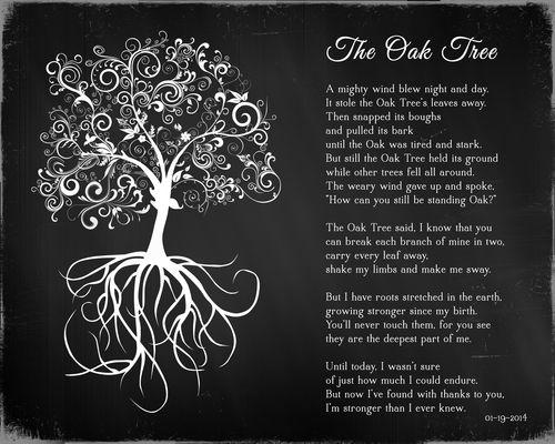 Old Oak Tree Poem Plaque Tree Poem Oak Tree Old Oak Tree