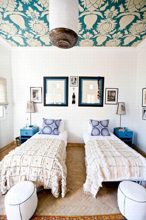 déco chambre lits jumeaux