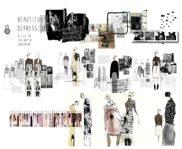 Fashion Portfolio - fashion sketches & design development; fashion sketchbook // Bethany Hermon