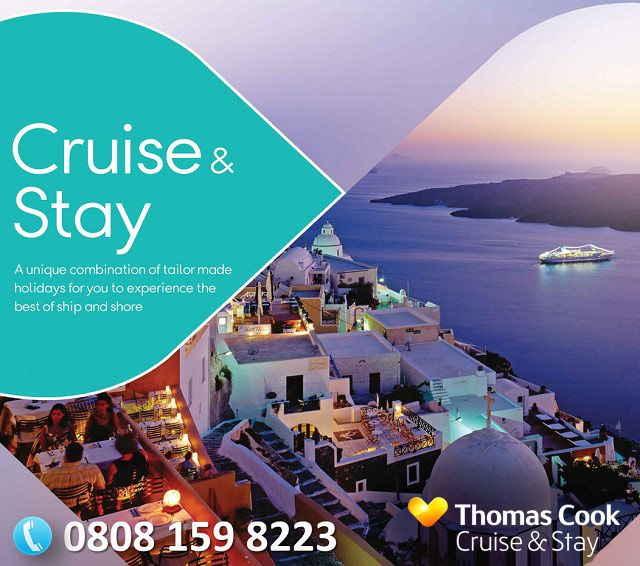 Why not experience a cruise and a holiday with Cruise Thomas Cook's stay and cruise packages? Take two holidays in one; a cruise and stay pa...