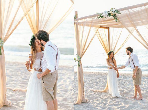 We did it again! Beautiful boho beach wedding in Crete created with love by www.hannamonika.com