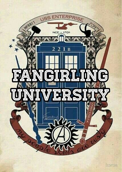 THIS IS AWESOME FANGIRLING UNIVERSITY