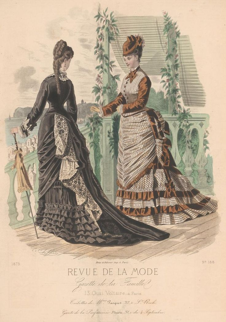 revue de la mode 1875 history of women 39 s apparel pinterest a moda. Black Bedroom Furniture Sets. Home Design Ideas