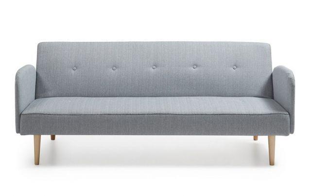 Sovesofa i lys grå.