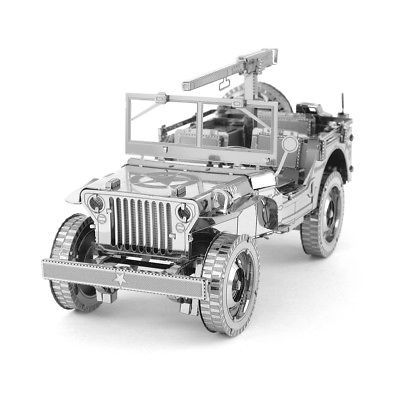ICONX-Willys-MB-Jeep-Metal-Model-kit-Fascinations-Inc