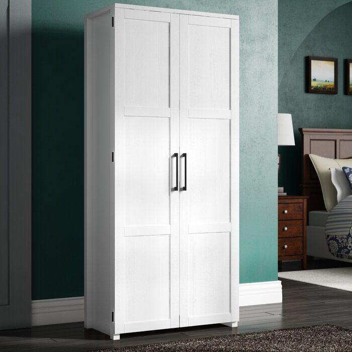 Tiberius 2 Door Wardrobe In 2020 2 Door Wardrobe Tall Cabinet Storage Adjustable Shelving