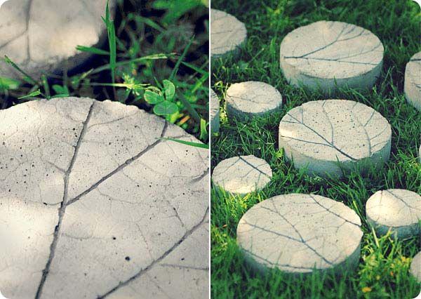 Lövstenar av betong