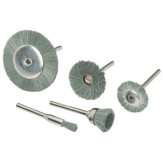 RUEDA y sistema de cepillo eléctrico de acero inoxidable de 5 piezas de limpieza de mini superficie chicago