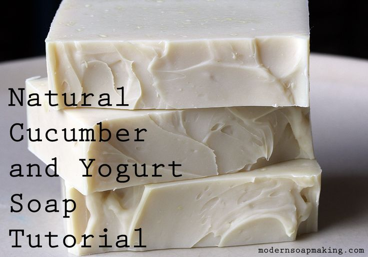 A deliciously creamy soap tutorial featuring both pureed cucumber and yogurt for a classic combination of skin love, all wrapped up in a handmade soap recipe.