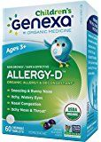 Amazon.com: Genexa Homeopathic Allergy Medicine: Certified Organic, Physician Formulated, Natural, Non-Drowsy, Non-GMO Verified Decongestant. Helps Provide Seasonal Allergy Relief (60 Chewable Tablets): Health & Personal Care