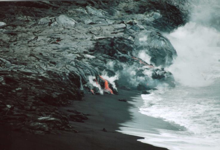 Lava Meets the Sea, Big Island, Hawaii