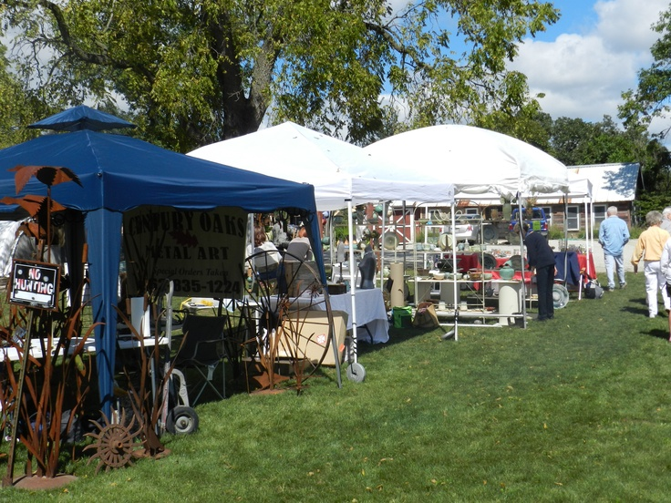 The Art Fair at Northwind Perennial Farm in Burlington, WI is held in September each year.